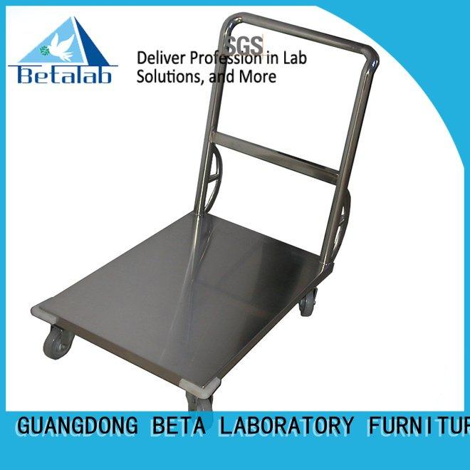 BETA stainless lab steel stainless steel trolley trolley