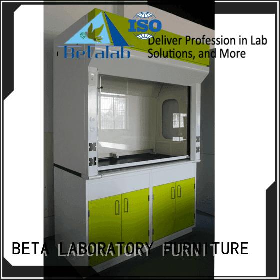 Wood laboratory BETA lab fume hood