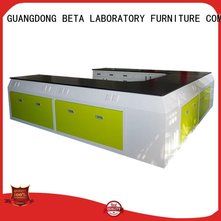 BETA laboratory furniture manufacturers steel cframe floor work