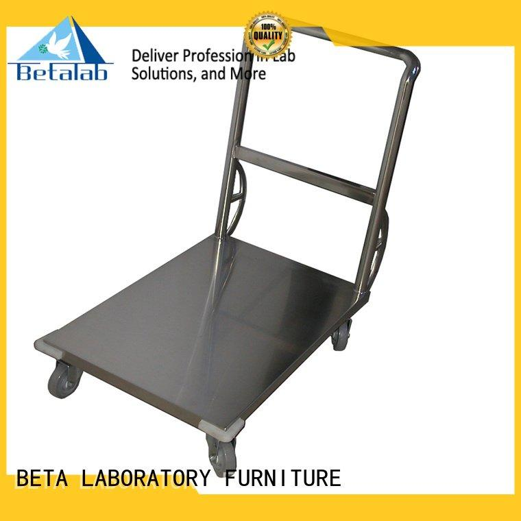 stainless steel lab trolley BETA trolley manufacturers