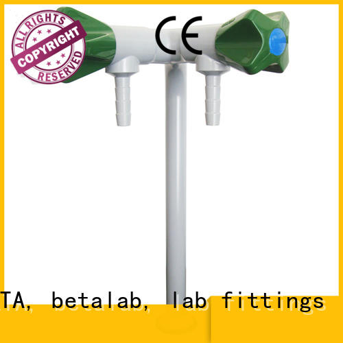 Lab fittings supplier double outlet Warranty BETA, betalab, lab fittings