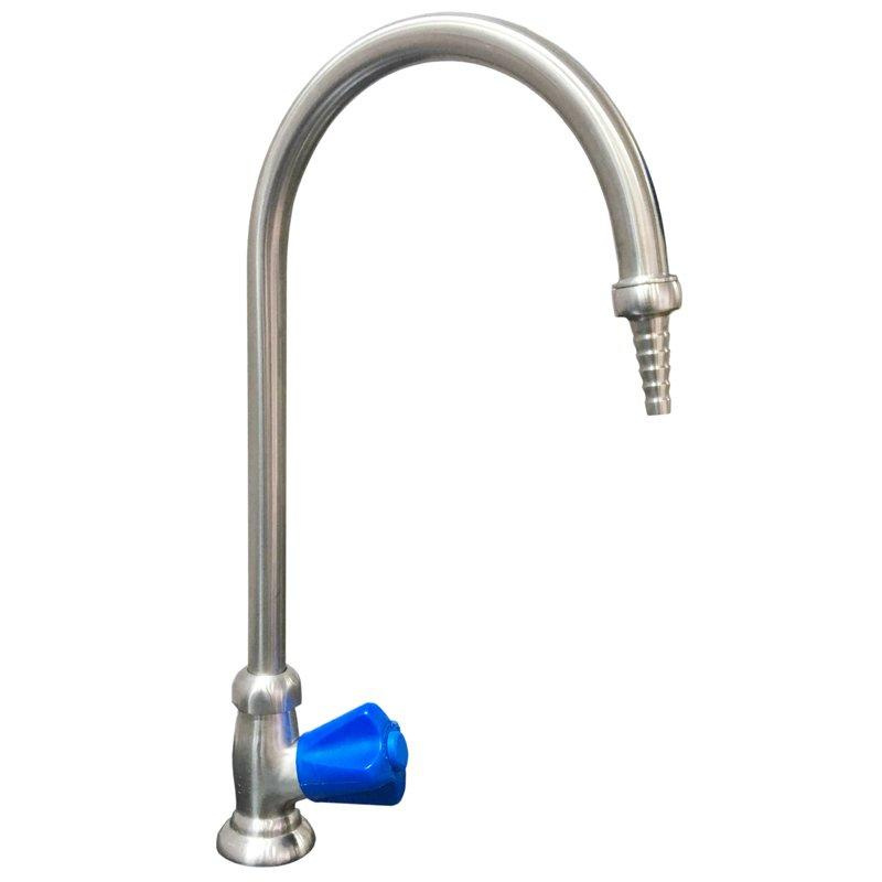 High Grade 304 Stainless Steel Cold Water Faucet Lab Gooseneck Water Tap