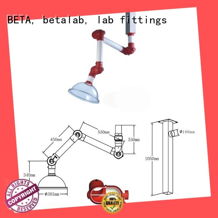 BETA, betalab, lab fittings durable welding fume extraction system stainless steel for institute